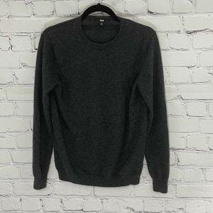 Uniqlo Grey Cashmere Crewneck Sweater